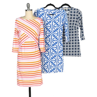 J. McLaughlin and Mahi Gold Dresses with Katherine Way Tunic Shirt