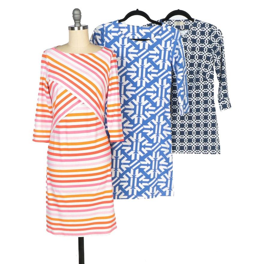 J. McLaughlin and Mahi Gold Dresses with Katherine Way Tunic Shirt