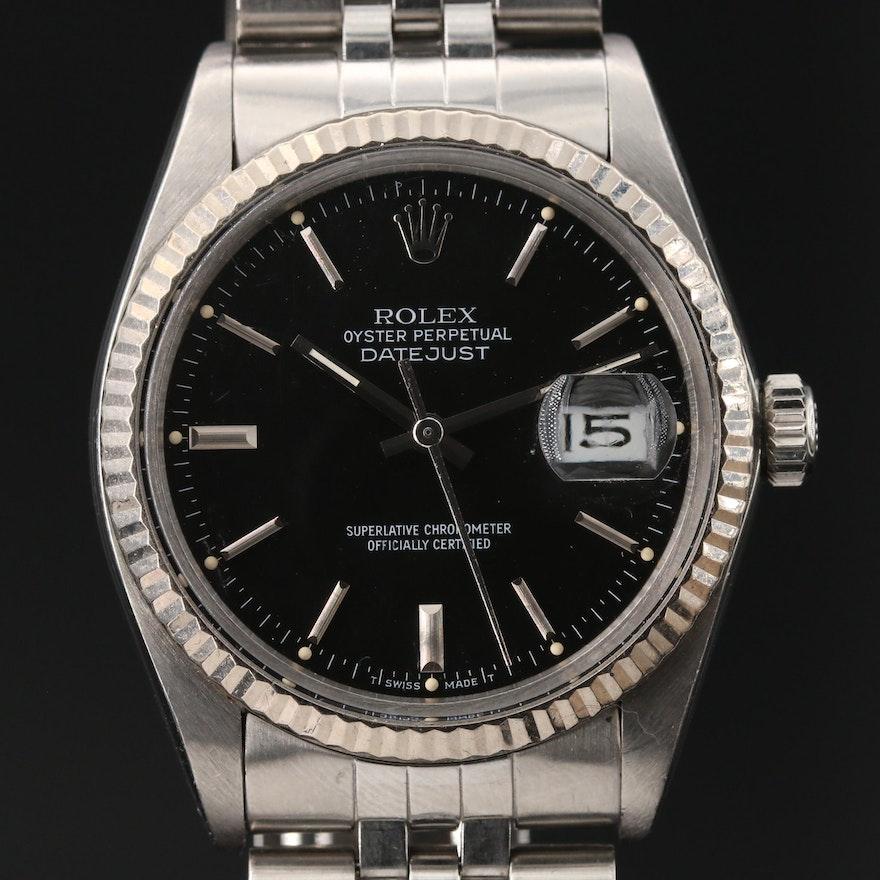 1985 Rolex Datejust 18K Gold Automatic Wristwatch