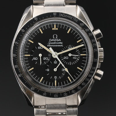 "Omega ""Speedmaster Pro"" The First Watch Worn on the Moon Wristwatch"
