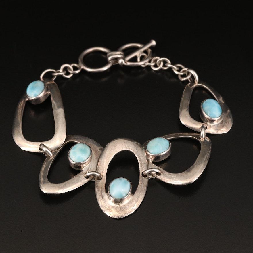 Sterling Larimar Bracelet