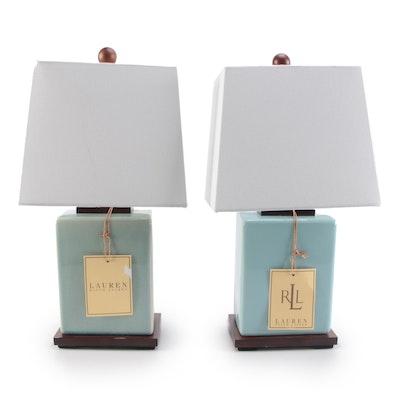 Two Ralph Lauren Modern Ceramic Table Lamps
