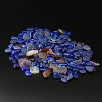 Loose Lapis Lazuli, Agate, Amethyst and Additional Gemstones