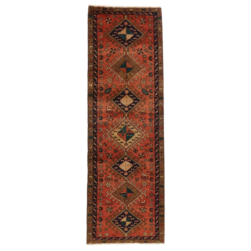 3'1 x 9'8 Hand-Knotted Northwest Persian Wool Carpet Runner, circa 1960s