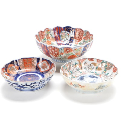 Three Japanese Imari Bowls
