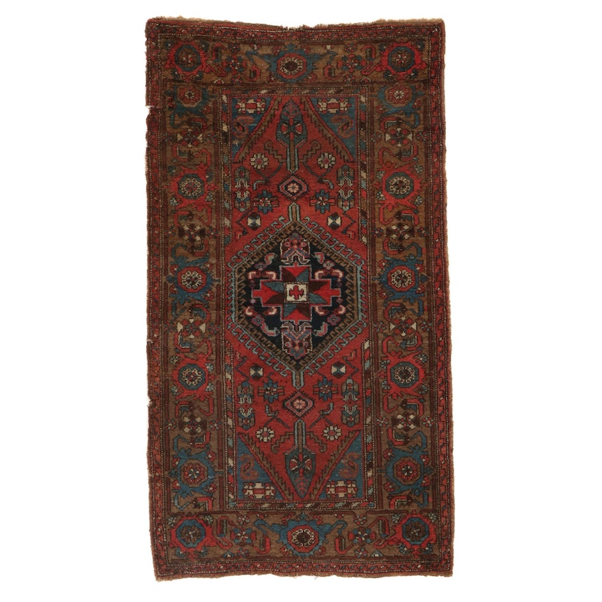 3'4 x 6'4 Hand-Knotted Northwest Persian Wool Area Rug, circa 1890s