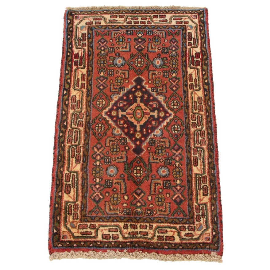 1'8 x 2'11 Hand-Knotted Persian Zanjan Accent Rug