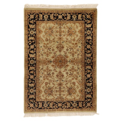 4'2 x 6'5 Hand-Knotted Pakistani Persian Tabriz Area Rug, 2000s