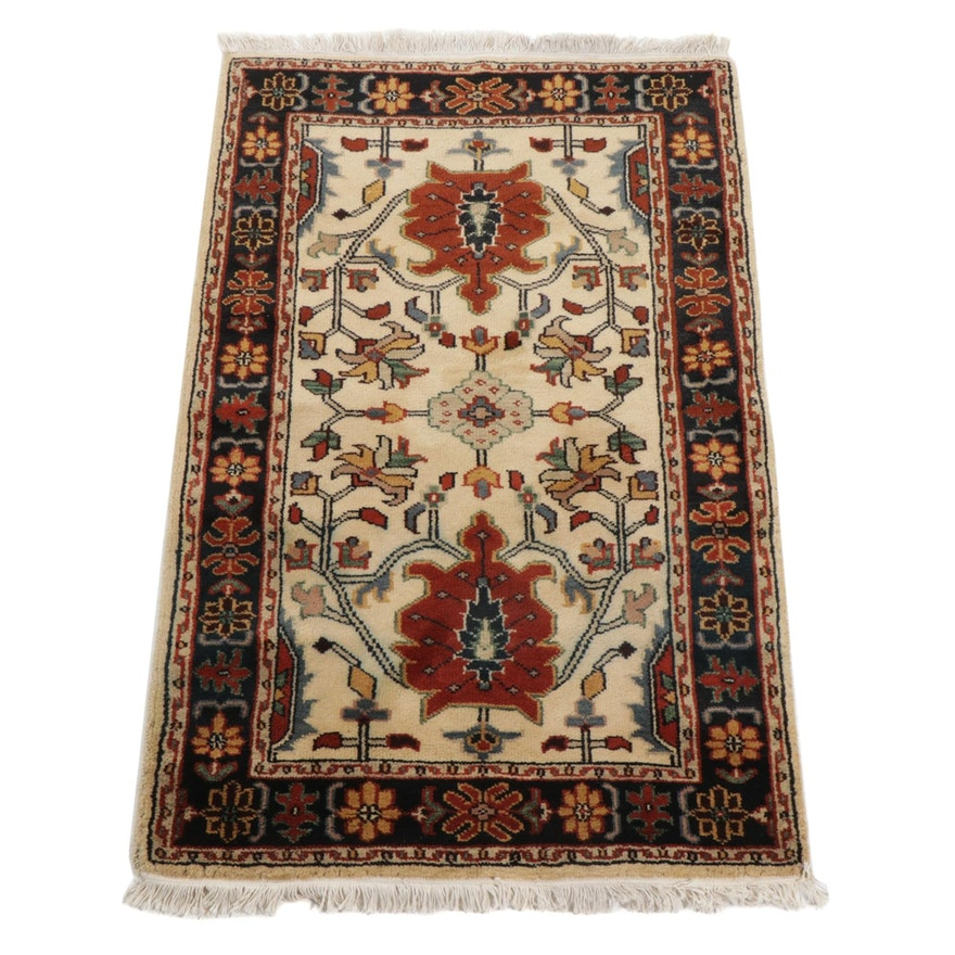 3'2 x 5'4 Hand-Knotted Indo-Persian Tabriz Area Rug, 2000s