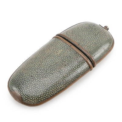 Chinese Shagreen Spectacles Case, 19th Century