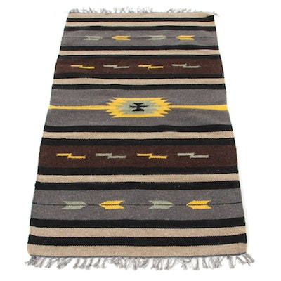 3' x 5'3 Handwoven Indo-Turkish Kilim Area Rug, 2000s