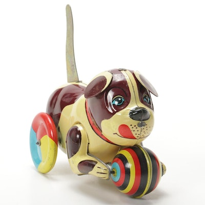 Blic Collector's Push and Go Tin Toy Dog, Vintage