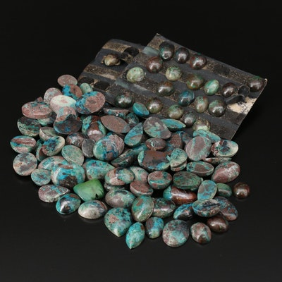 Loose Mixed Eilat Stone Cabochons