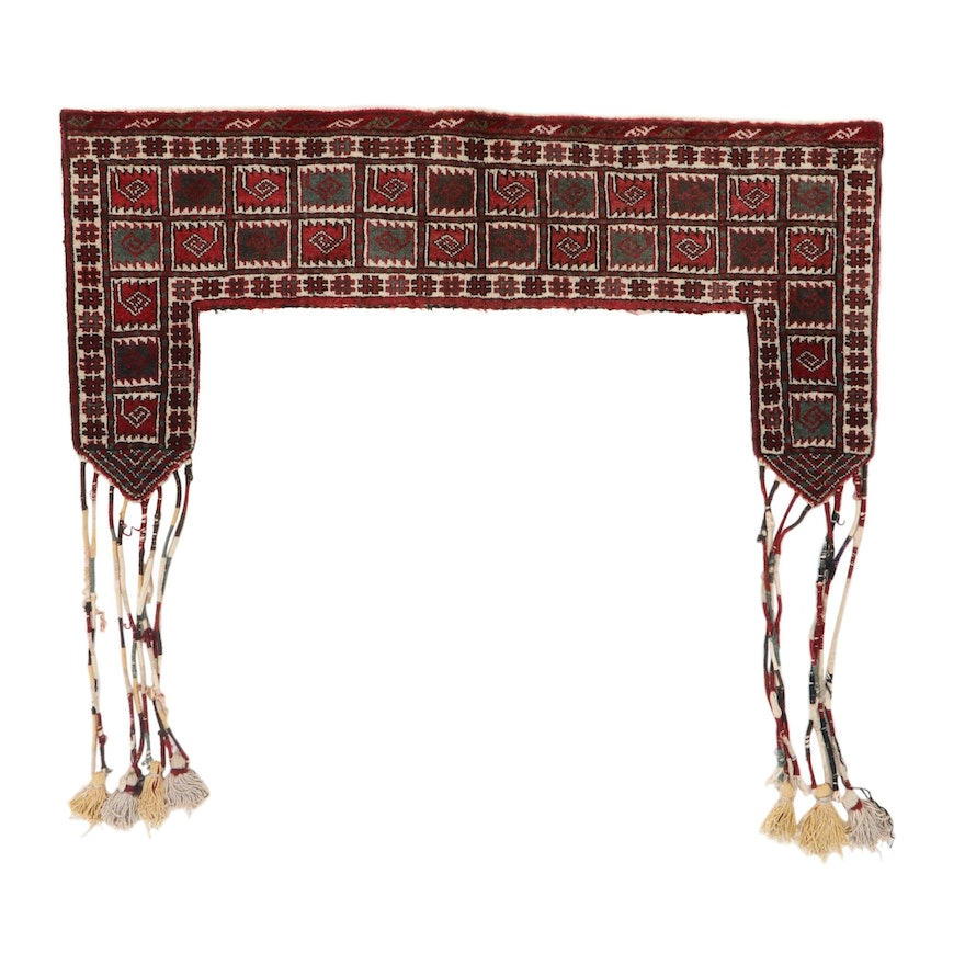 Hand-Knotted Persian Turkmen Tent Weaving, 1970s