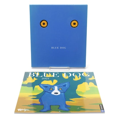 """Blue Dog"" by George Rodrigue and Lawrence S. Freundlich with 2021 Calendar"