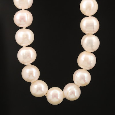Individually Knotted Pearl Necklace with Sterling Silver Clasp