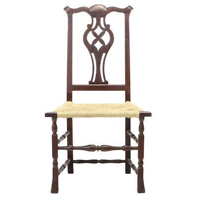 New England Chippendale Cherrywood Side Chair, Mid to Late 18th Century