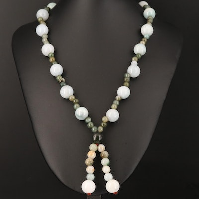 Round Beaded Jadeite Necklace