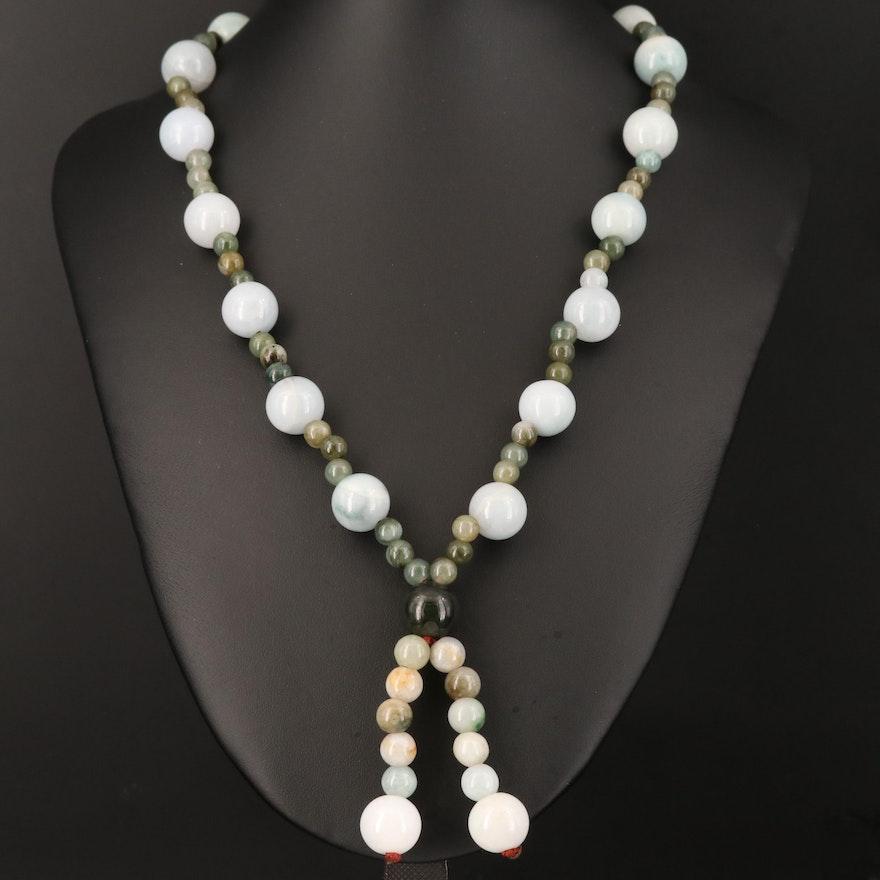 Round Beaded Jadeite Necklace