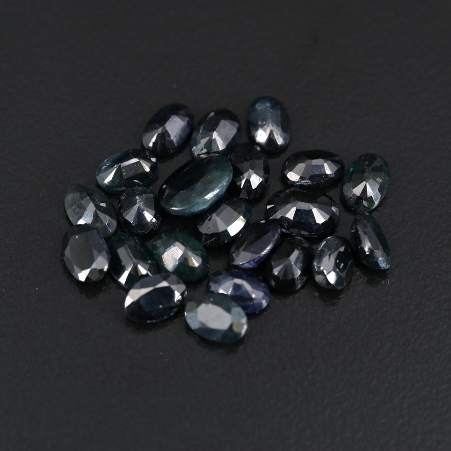 Loose 15.67 CTW Oval Faceted Sapphires