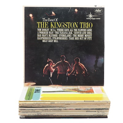 Pat Boone, Harry Belafonte, The Kingston Trio, and Other Vinyl Records