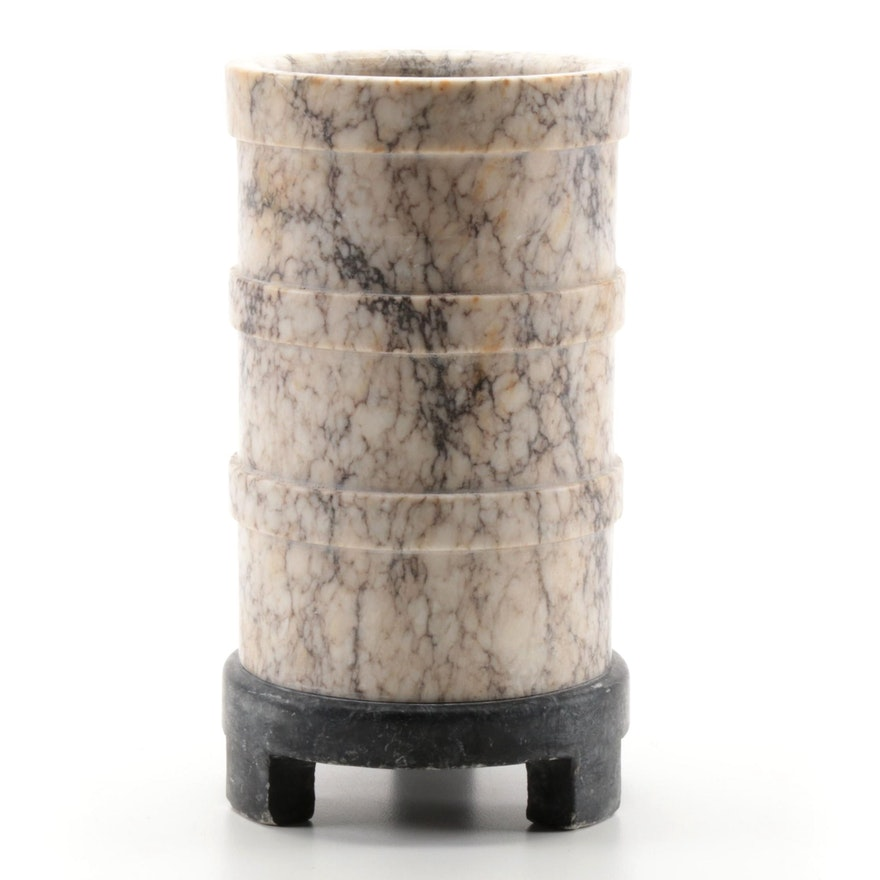 Italian Hand-Crafted Alabaster Vase