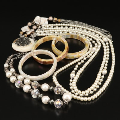 Rhinestone, Pearl, Mother of Pearl and Additional Gemstone Jewelry Section