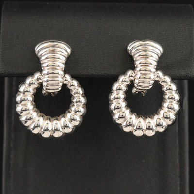 John Hardy Sterling Earrings with Removable Circular Enhancers