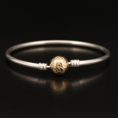 Pandora Sterling Bangle with 14K Accents