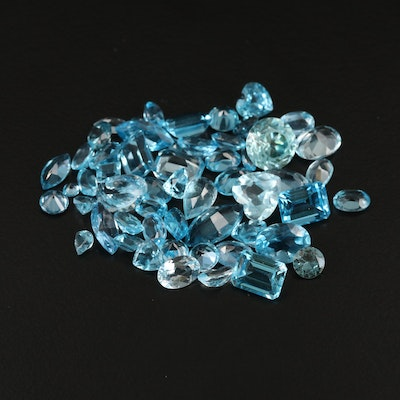 Loose 50.09 CTW Faceted Topaz and Lab Grown Spinels