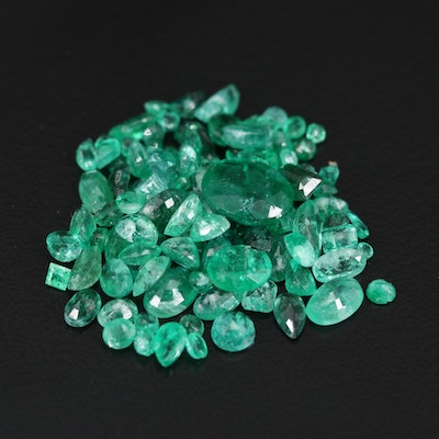 Loose 16.52 CTW Mixed Faceted Emeralds