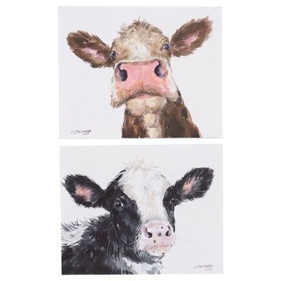 Ganna Melnychenko Watercolor Paintings of Cows, 2019