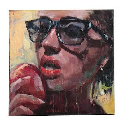 """Adam Deda Oil Painting """"Forbidden Fruit,"""" 2012"""
