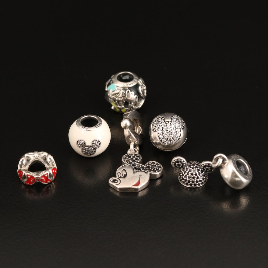 Pandora for Disney Sterling Charm Including Enamel and Cubic Zirconia