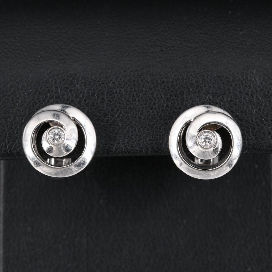 Asprey 18K Diamond Diamond Earrings