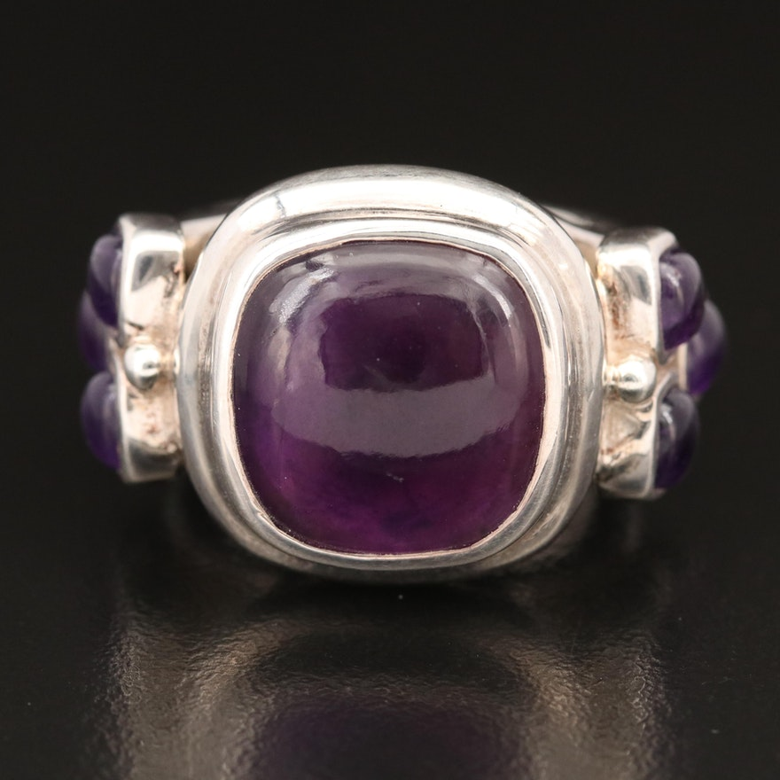 Laurent Léger 950 Silver Amethyst Ring