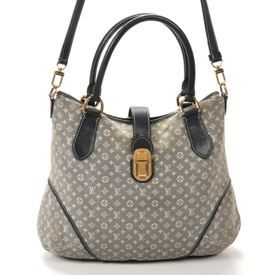 Louis Vuitton Elegie Tote Bag in Encre Monogram Idylle Canvas and Leather
