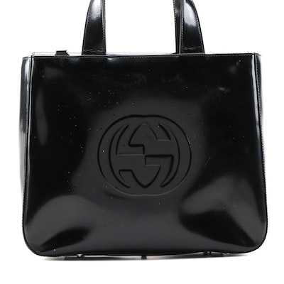 Gucci Soho Handbag in Black Patent Leather
