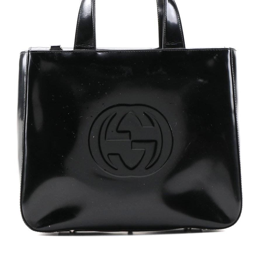 Gucci Soho Handbag in Black Patent Leather