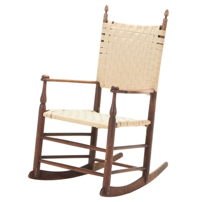 Mt. Lebanon, NY Shaker Maple and Woven Tape Child's Rocker