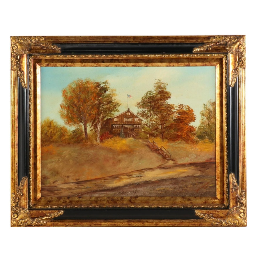 Judi Winkler Autumn Landscape Oil Painting, 2001
