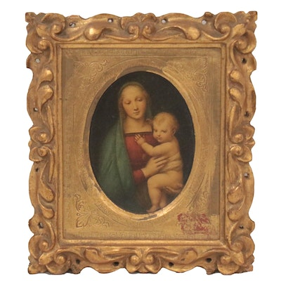 Giclée of Madonna and Child, Late 20th Century