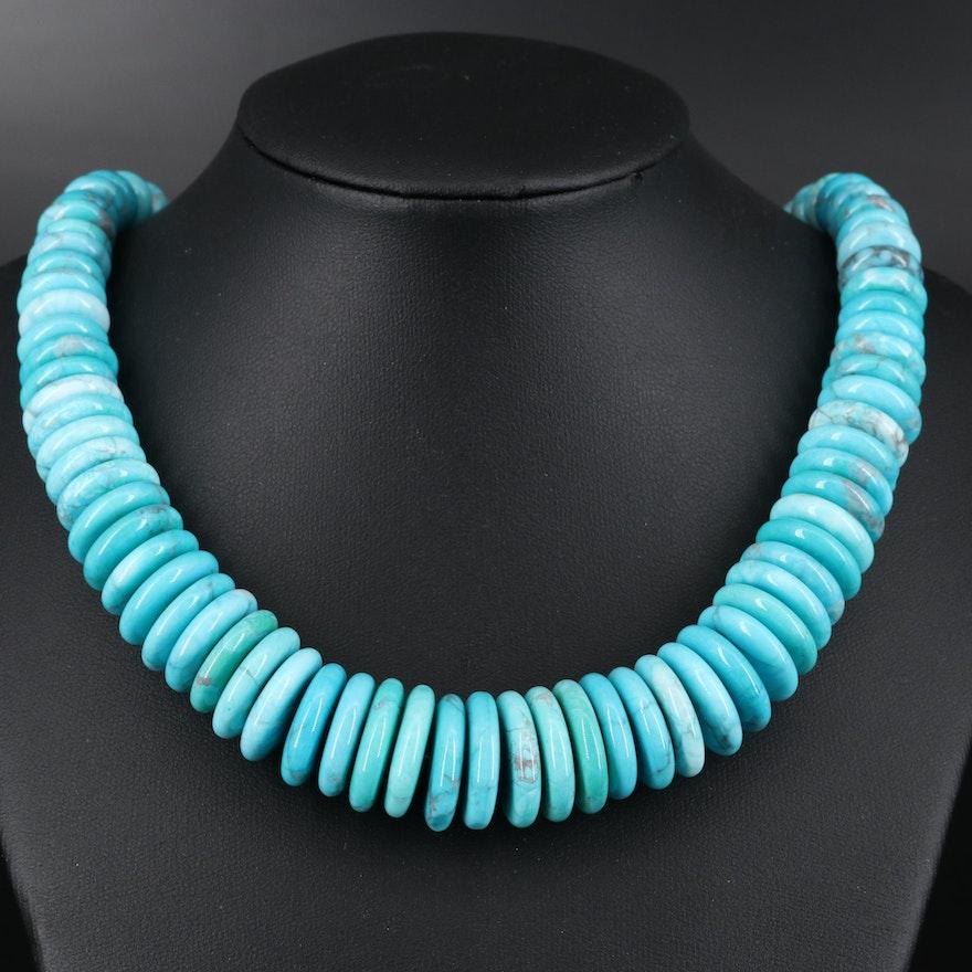 Graduated Magnesite Necklace