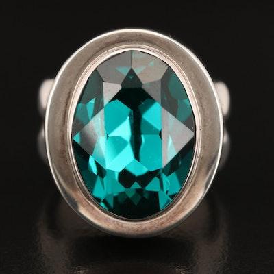 Laurent Leger 950 Silver Rhinestone Ring