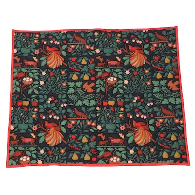 Trapunto Quilted Wall Hanging Folk Art Motif, Late 20th Century
