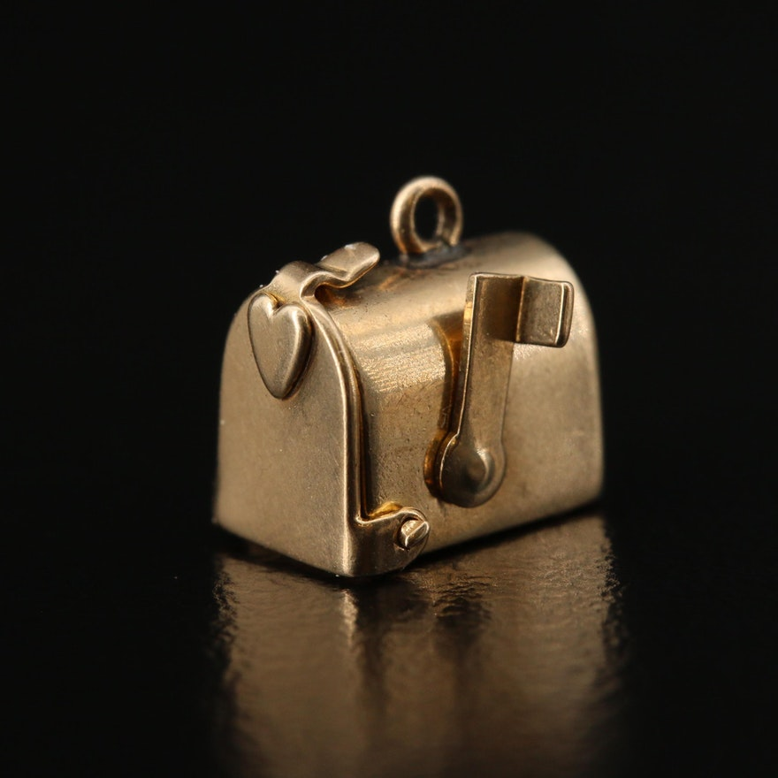 14K Articulating Mailbox Charm