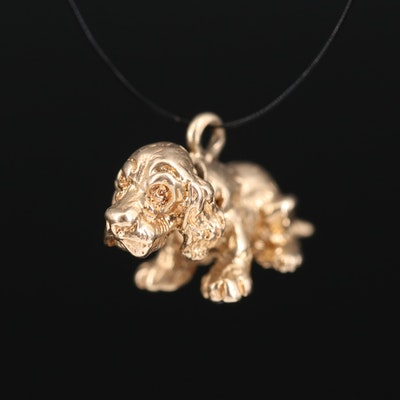 14K Articulated Dog Charm