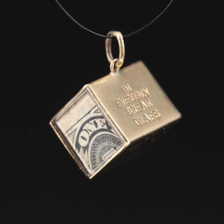 14K Mad Money Charm