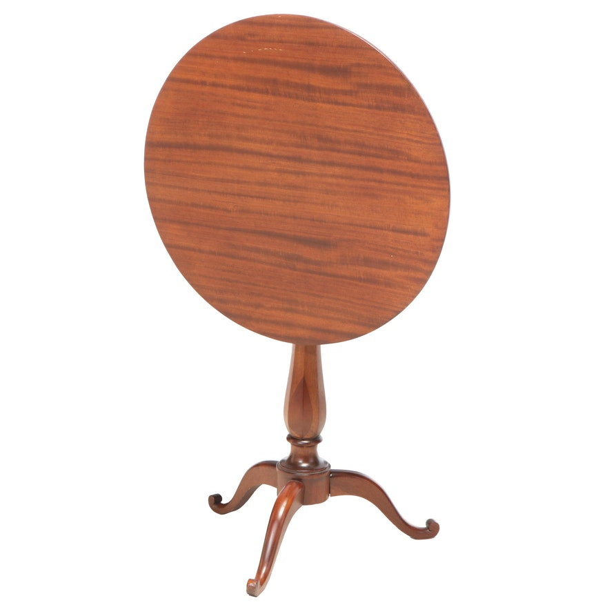 A.B. Closson Jr. Co. Federal Style Mahogany Tilt-Top Tripod Table, 20th Century