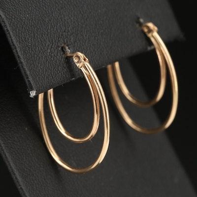 14K Double Hoop Earrings